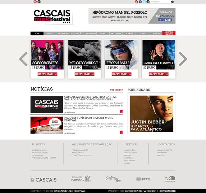 Cascais Music Festival | Site com Loja Online