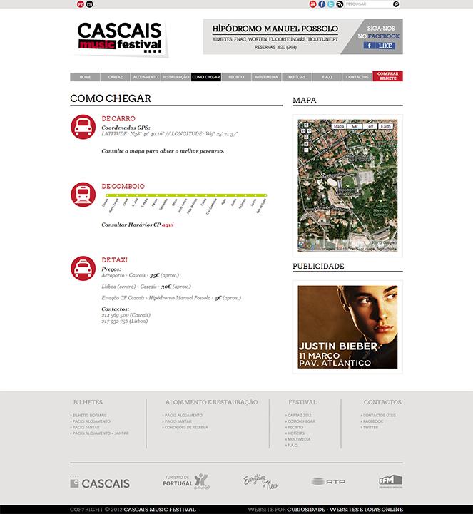 Cascais Music Festival   Site com Loja Online