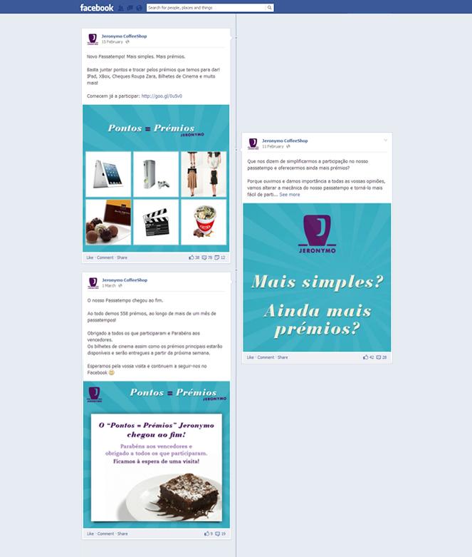 Jeronymo Coffee Shop   Pontos = Prémios