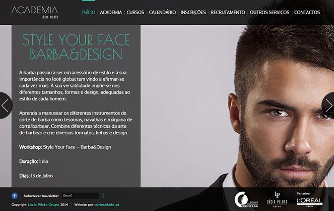 Website Lúcia Piloto Academia
