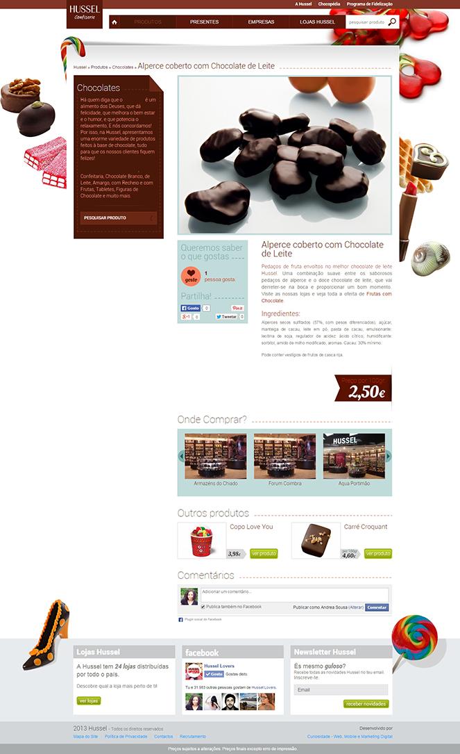 Novo Site HUSSEL - Página de Produto