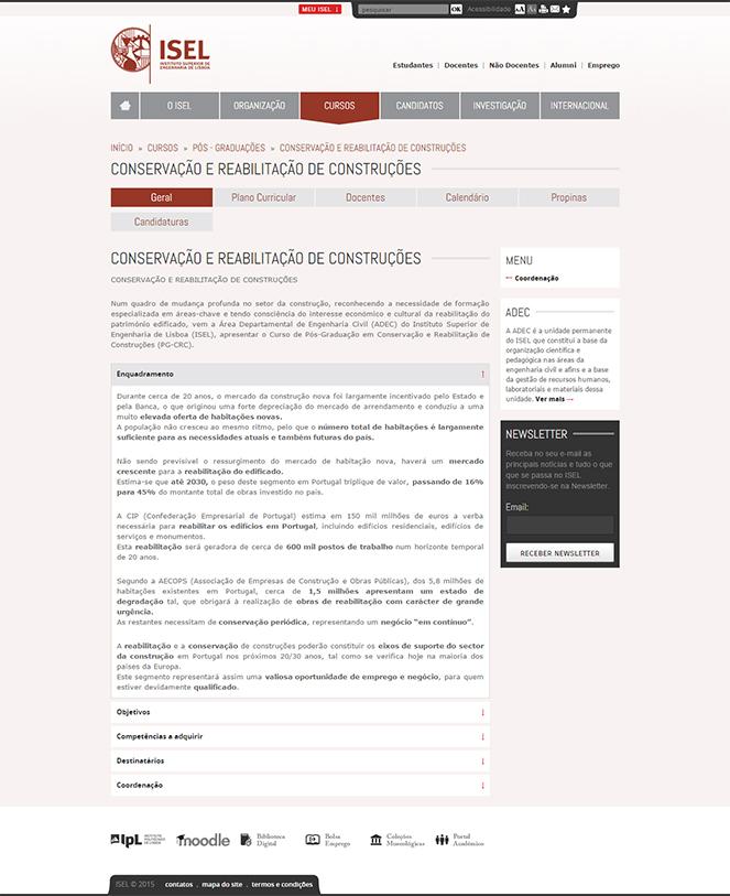Website ISEL