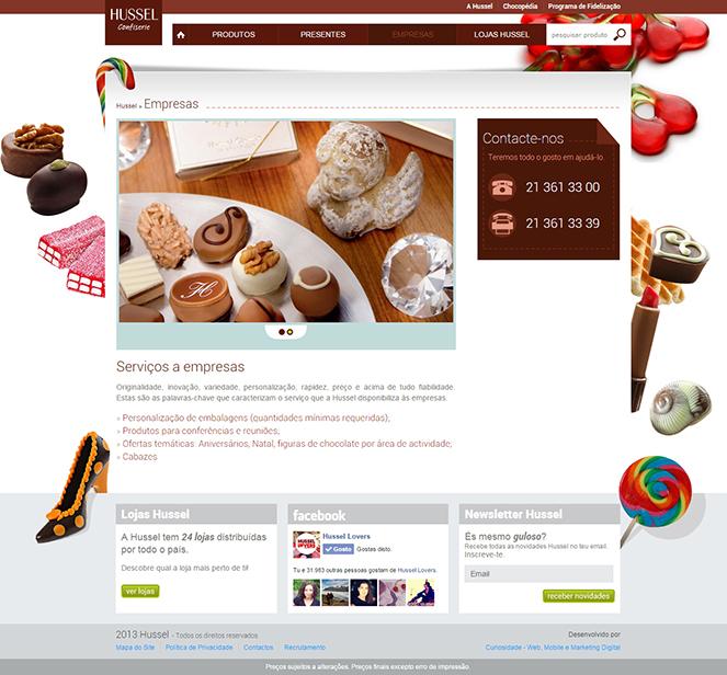 Novo Site HUSSEL - Área 'Empresas'