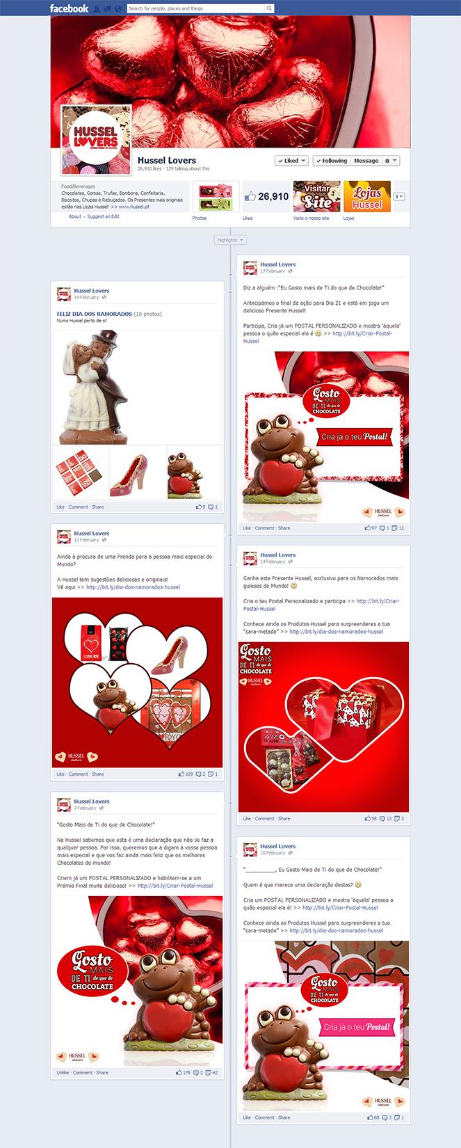 """""""Gosto mais de Ti do que de Chocolate"""" - Posts Facebook"""