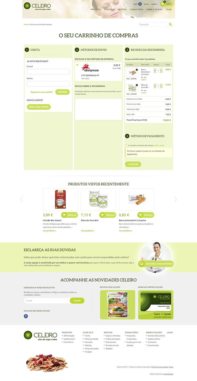 Website e Loja Online Celeiro