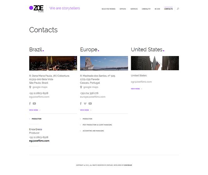 Website ZOE Films